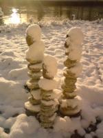 Steinmandli im Schnee
